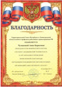 Благодарность Чумакова А.Б.